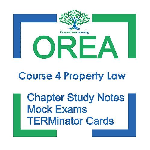 OREA Real Estate Course 4 Textbooks & Mock Exams