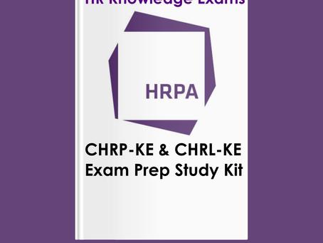 HRPA Designations CHRP CHRL CHRE Exams