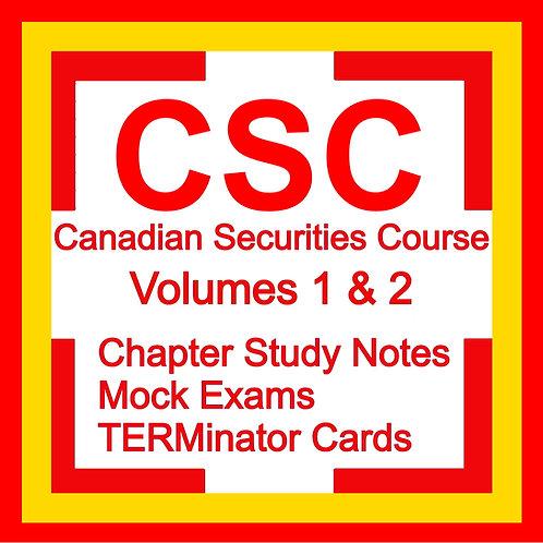 CSC Canadian Securities Course Exam Prep Study Kit Textbook