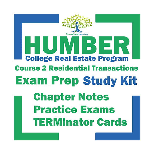 Humber Real Estate Course 2 Residential Transactions