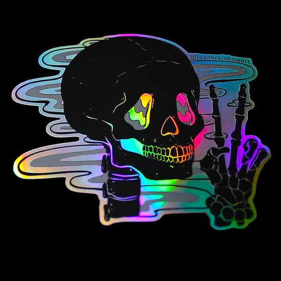 Rave in Peace Holographic Rainbow Sticker