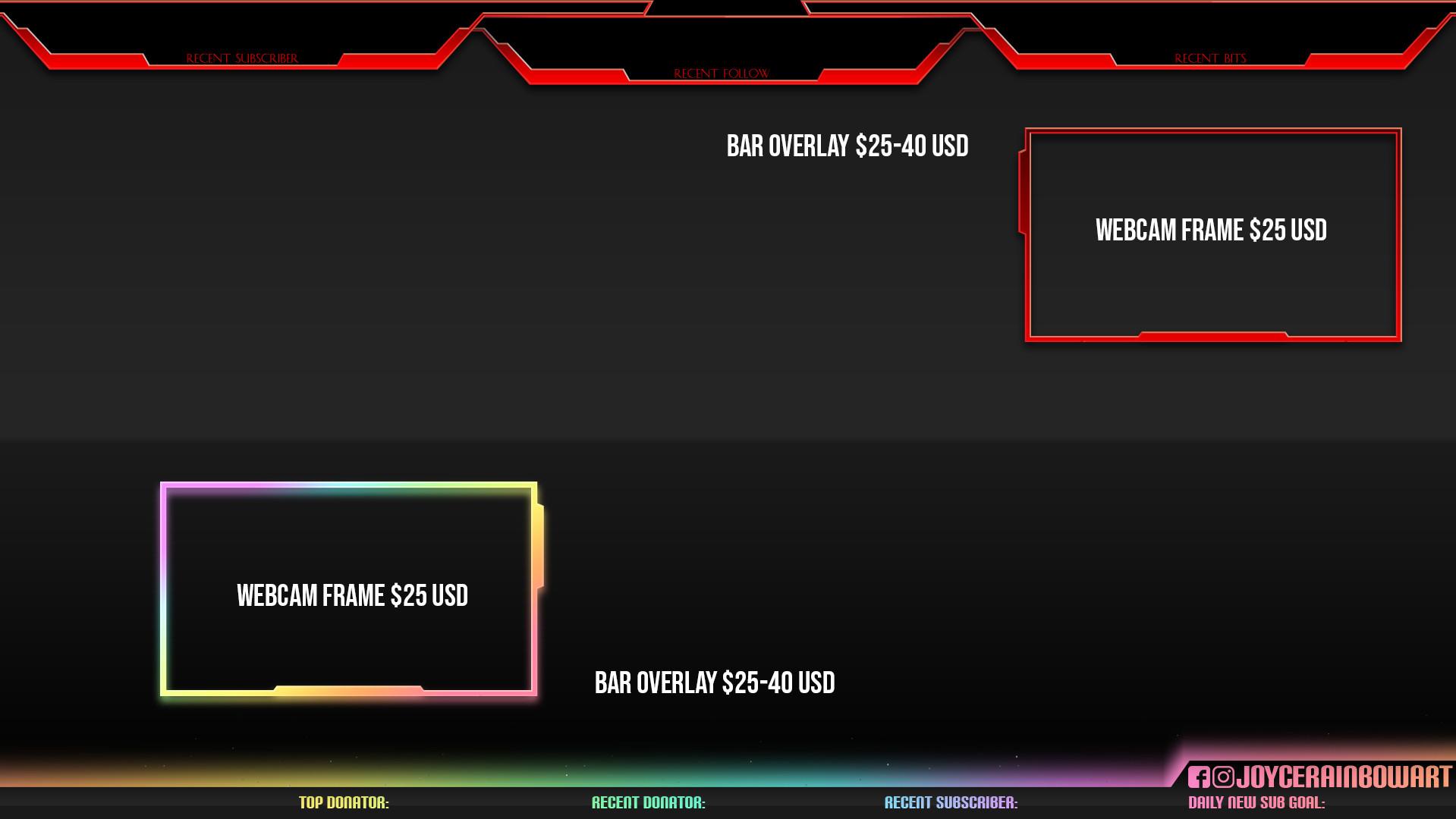 Bar and Frame Overlays