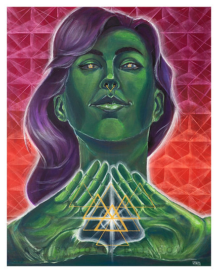 Ode to Triangles - Limited Edition 16x20 Canvas Paper Print