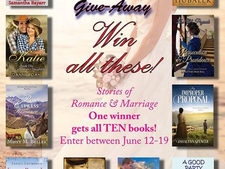 You can #WIN a #JuneWeddings TEN author #BookGiveaway #LadiesinDefiance