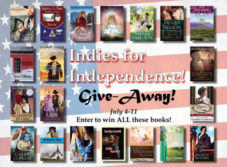 #IndiesforIndependence a TWENTY #BookGiveaway for YOU to #WIN #LadiesinDefiance