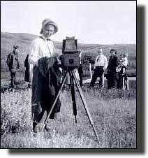 """""""Manual labour . . . is all I care about, and, after all, is what will really make a strong woman. I like to break colts, brand calves, cut down trees, ride and work in a garden."""" Evelyn Cameron"""