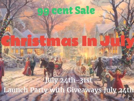 A Christmas in July Facebook Launch Party, #99cent #SALE and #GIVEAWAYS #LadiesinDefiance #WIN