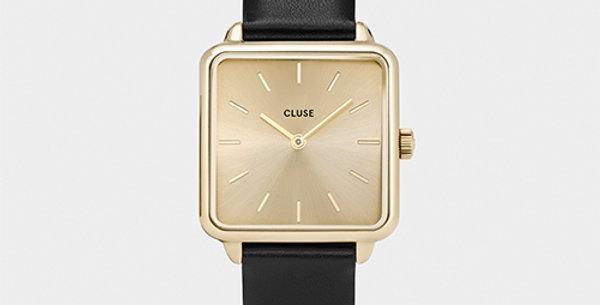 Cluse La Tetragone Gold Gold/Black Watch