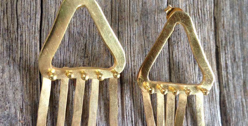Fringed Earrings - Gold