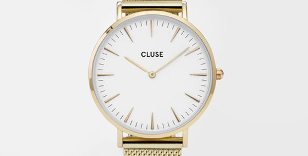 Cluse La Boheme Mesh Gold/White Watch