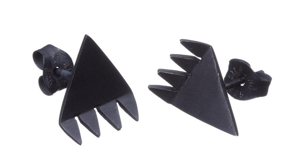 Spikey Triangle Stud Earrings