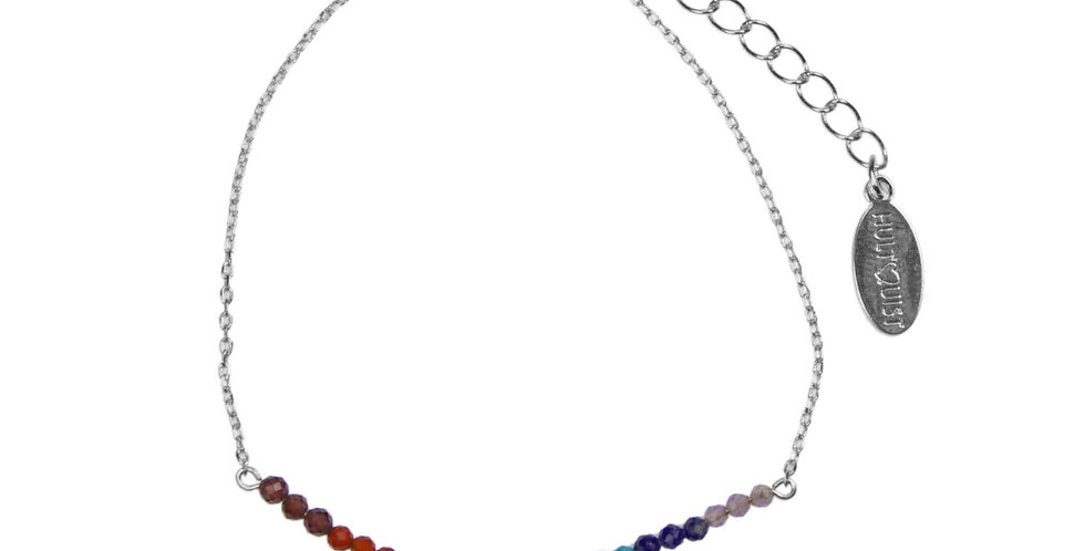 Rainbow Pride Bracelet- Silver