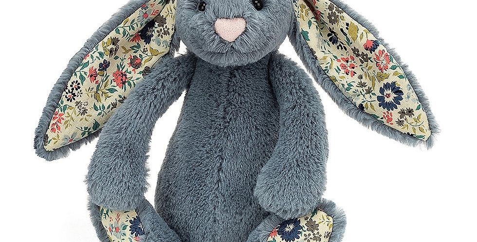 Jellycat Blossom Bashful Bunny - Dusky Blue Small