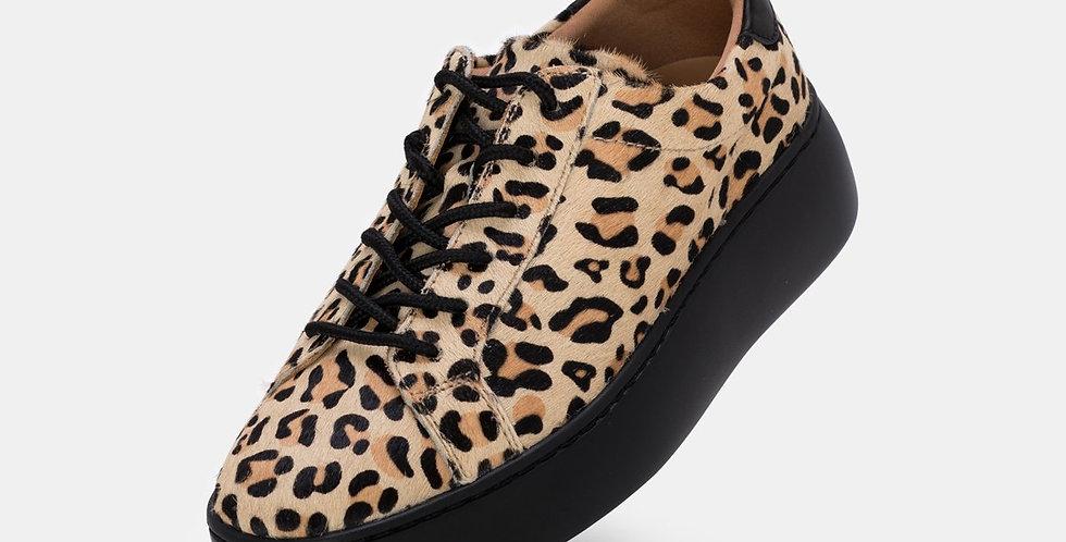 City Sneaker Camel Leopard/Black Sole