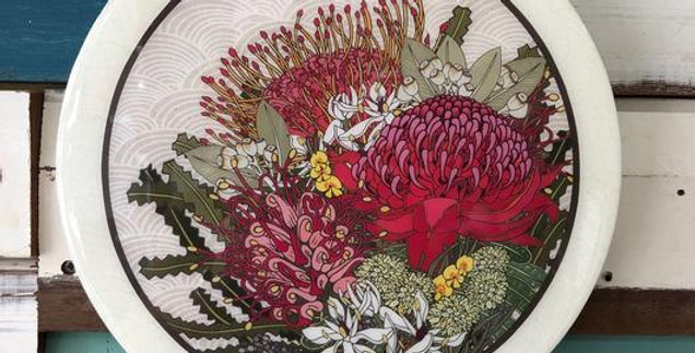 Native Bloom - Roundy Woodblock