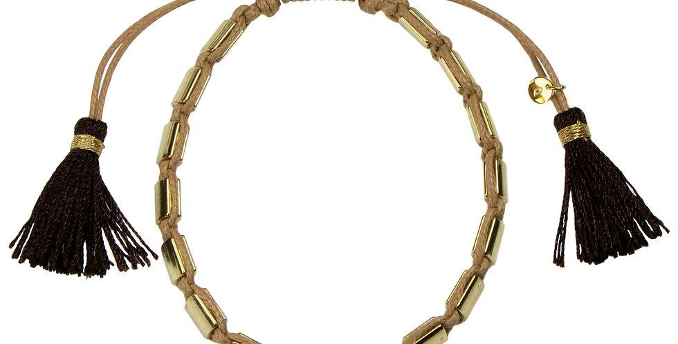 Miyuki Gold Bead Cord Bracelet