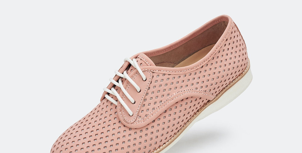Derby Punch Overlay Pink / White