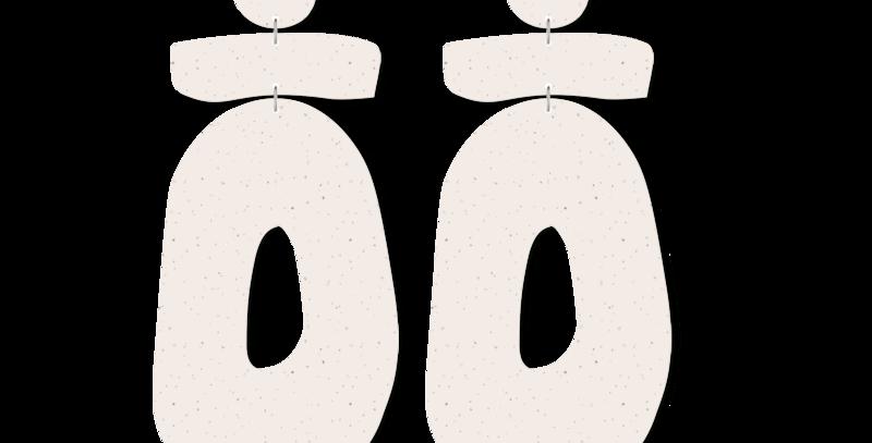 Flaxen Clay Organic Statement Earrings