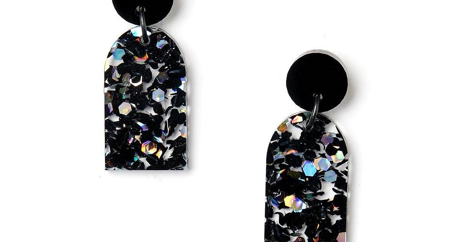Arc Earrings - Black / Cosmos