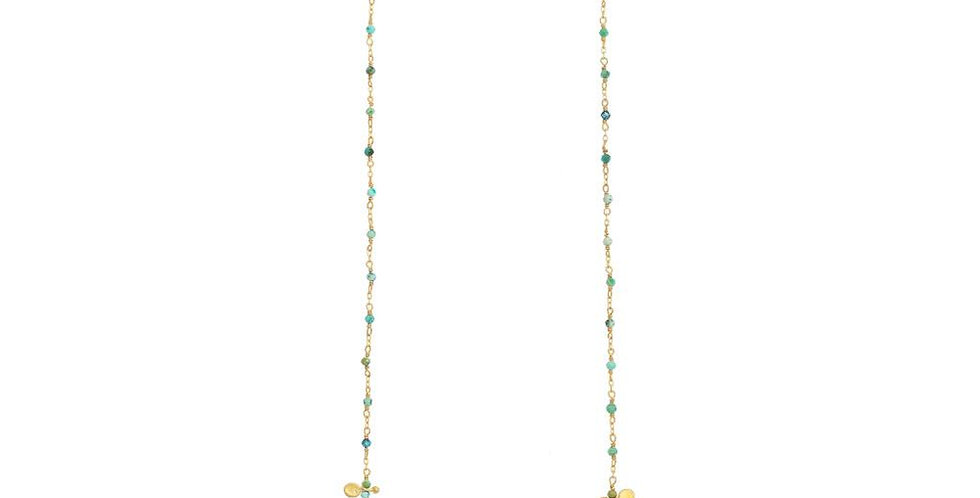 Turquoise Link Chain Necklace