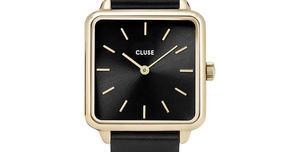 Cluse La Tetragone Black/Gold Watch