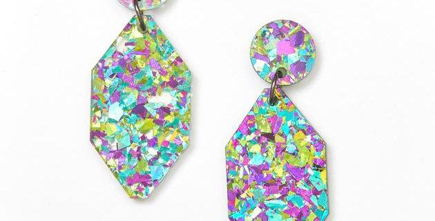 Diamond Earrings - Peacock