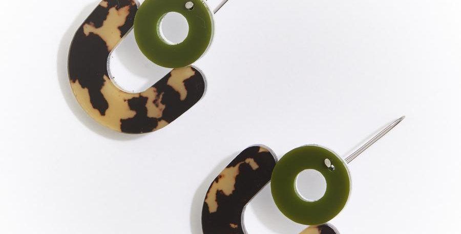 Cleo Earrings - Leopard Light