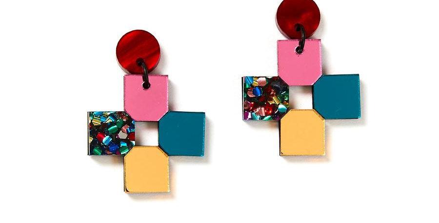 Cross Earrings - Disco