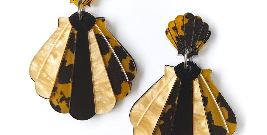 Shell Earrings - Leopard