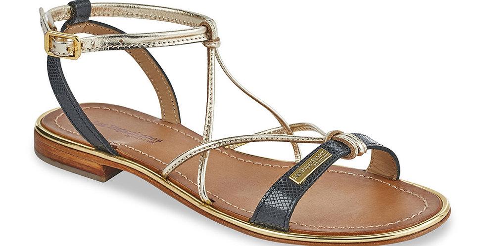 Hirondel Black & Gold Sandal