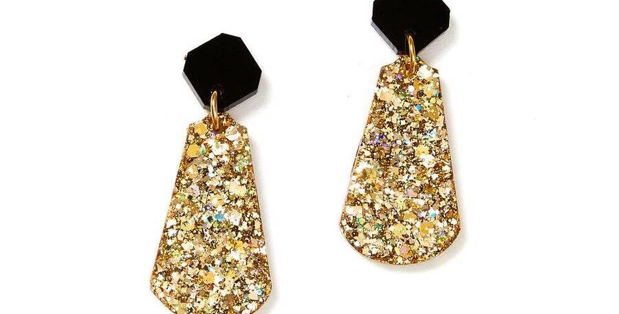 Tal Earrings - Black/Gold