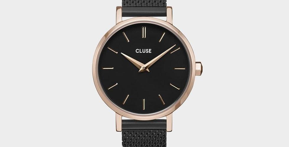 Cluse La Bohème Petite Black/ Rose Gold Watch