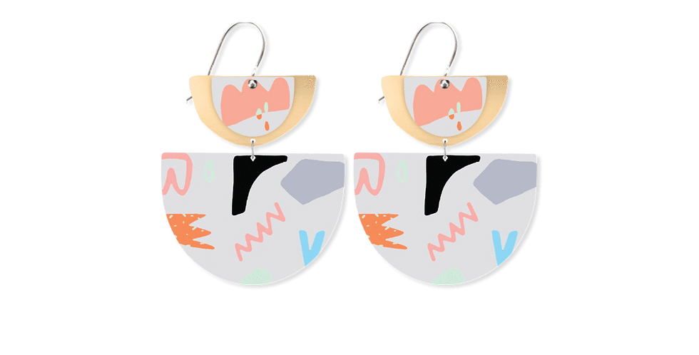 Double Layered Bell Drop Earrings