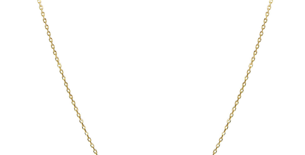 Gold Fish Charm Necklace
