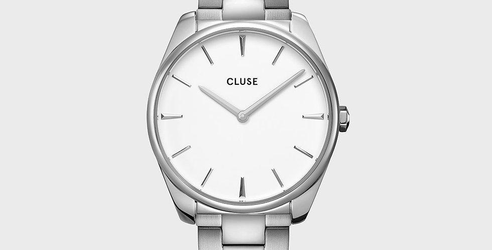 Cluse Feroce Silver White/Silver Link