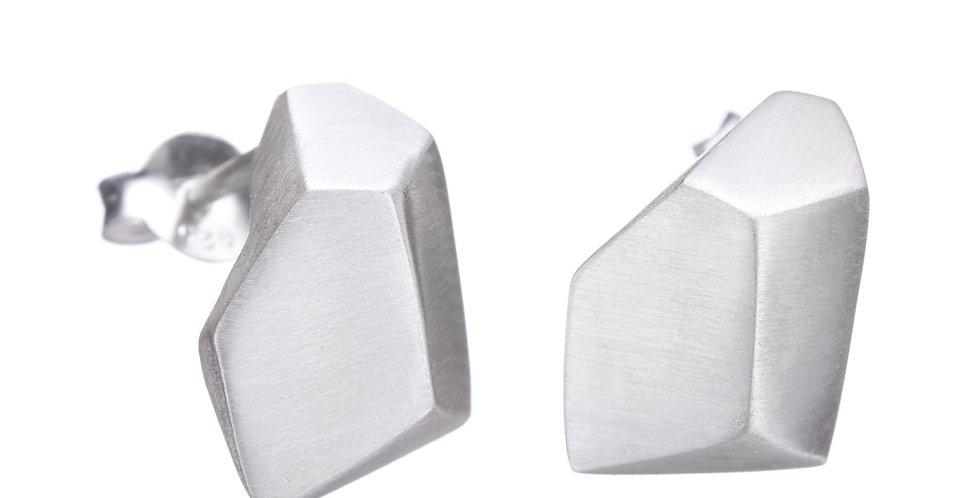 Geometric Studs Silver