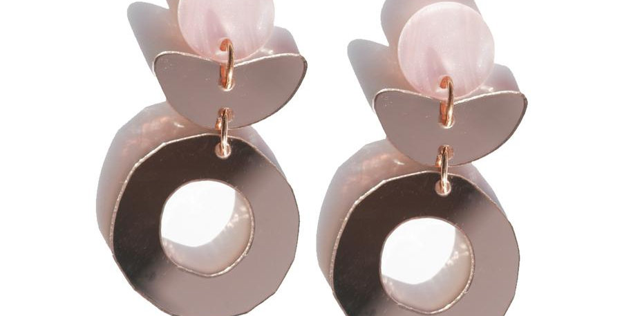 Dune Flower Earrings - Rose Gold