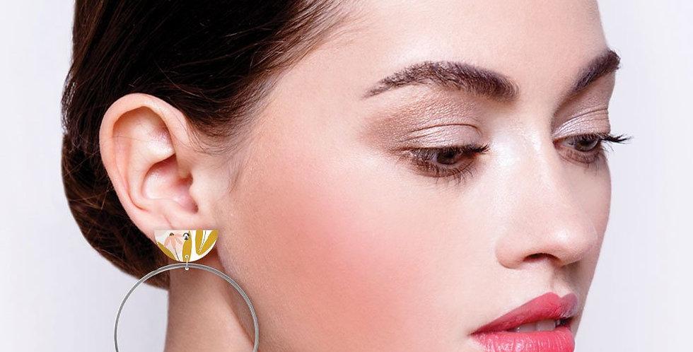 Moon Ring Hoop Earrings - Marguerite Bloom