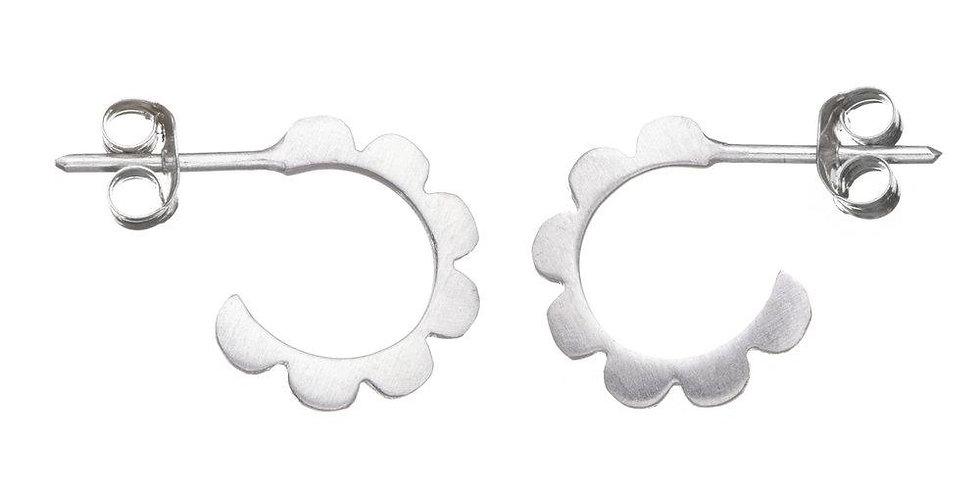 Frill Hoop Earrings