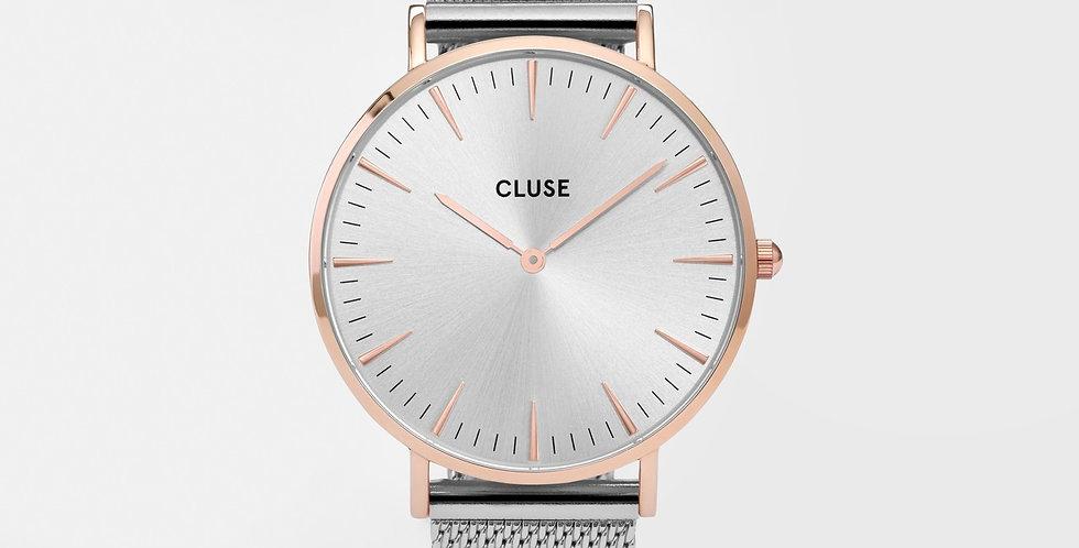 Cluse La Boheme Mesh Rose Gold/Silver Watch