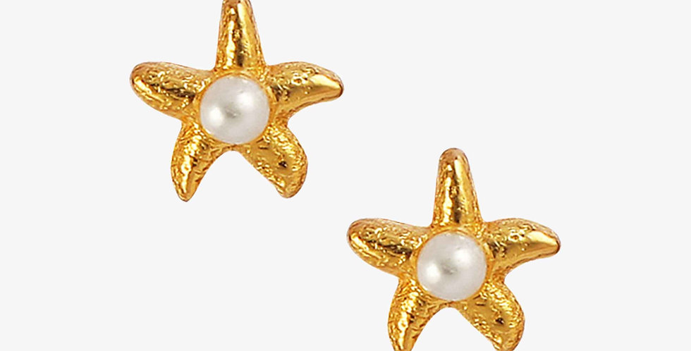 Starfish Pearl Studs