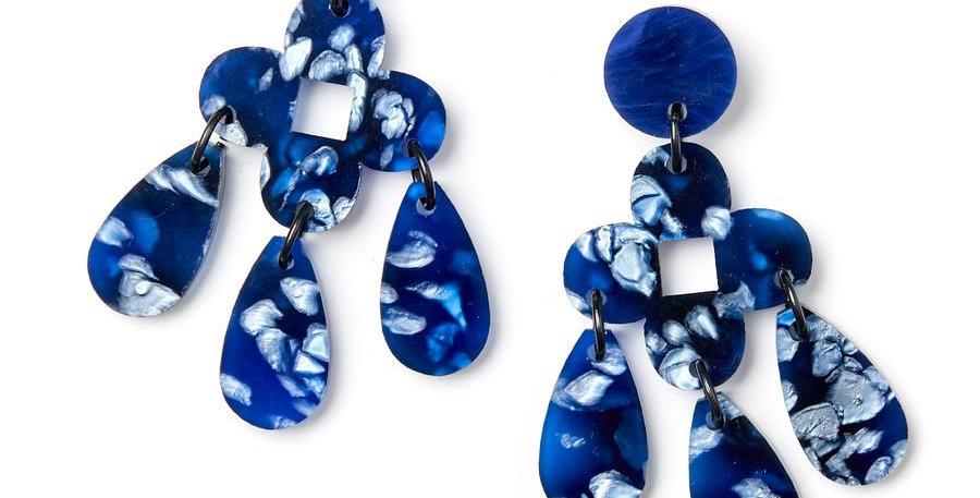 Zara Earrings - Dark Blue