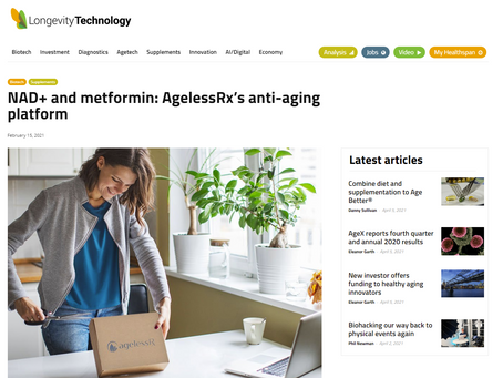 AgelessRx Platform Featured in Longevity.Technology