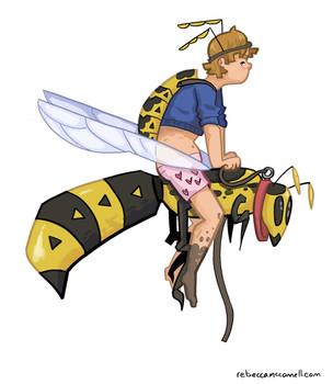 Wasp Friend Spot Illustration