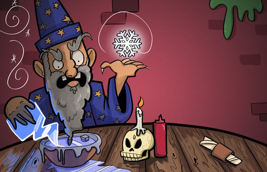 Ice Wizard Diner Card