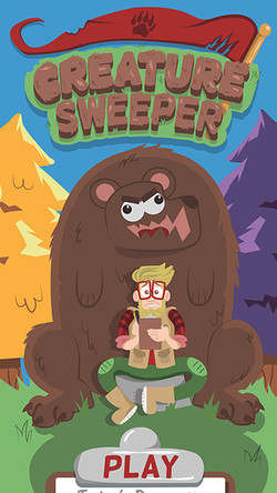 Opening Screen for Creature Sweeper