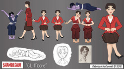 C.L. Moore Character Sheet and Sprites