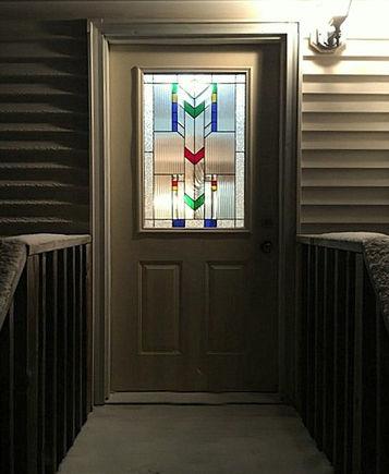 Front door stained glass window