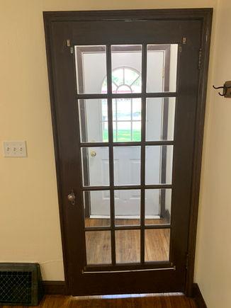 Front entry interior door