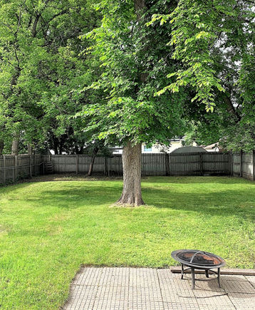 Large fenced-in back yard